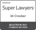 Ali Crocker Super Lawyers Rising Stars 2021